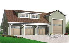 RV GARAGE PLAN Fabulous Four Bay Garage Plan With 751 Sq Ft Storage