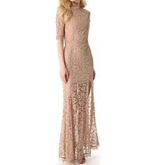 Women's Sexy/Bodycon/Lace/Maxi Stretchy ½ Length Sleeve Maxi Dress ( Spandex/Polyester ) – CAD $ 43.73