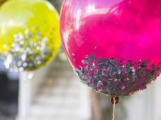 DIY Confetti Balloons by Moonfrye.com