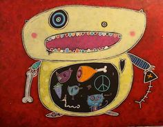 Julie Miville Julie, Atc, Porsche Logo, Art For Kids, Monsters, Doodles, Logos, Portraits, School