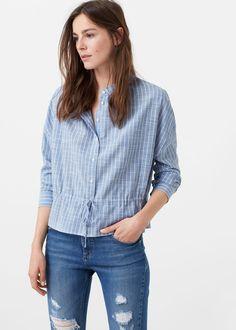 Katoenen blouse -  Dames | MANGO Nederland