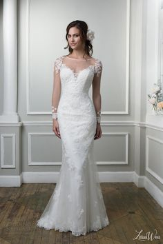 lillian west 2016 bridal preview style 6378 illusion long sleeve wedding dress