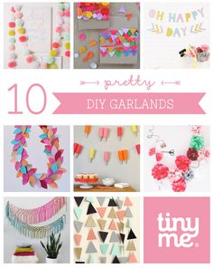 10 DIY Garlands ~ Tinyme