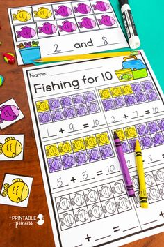 Here's a fun way for students to learn to make 10. This resource includes several different types of composing and decomposing activity mats along with multiple recording sheets. With five fun year-round themes this activity will stay fresh and new as student practice making 10.