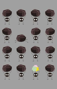 Spirited Away soot sprites