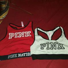 Pink sports bras Red is a (L a-c) Grey is a (M a-c) PINK Victoria's Secret Intimates & Sleepwear Bras