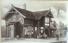 Evje stasjon Setesdalsbanen. Tidlig 1900-tall. foto: Küenholdt
