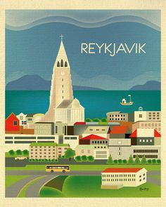 Reykjavik, Iceland is available in an array of finishes, materials, and sizes, this retro inspired wall art will make Reykjavik feel close to your heart with its bright color palette and unique design