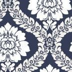 Daisy Damask Wallpaper, Blue