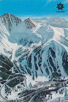 "Vintage  Postcard - A Basin Ski Area"" Ski Country, Colorado,USA"
