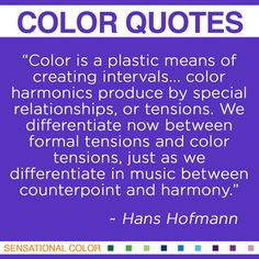 Color quote by Hans Hofmann