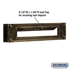 Solid Brass Mail Slot for doors Home Office Commercial decor