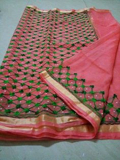 Kota Doria Embroidered Cotton Sarees from Stf Store Chiffon Saree, Saree Dress, Cotton Saree, Cotton Silk, Saree Blouse, Silk Sarees, Kota Sarees, Indian Sarees, Cute Baby Boy Images