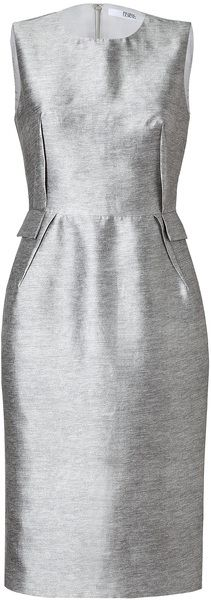 Silkcotton Darted Sheath Dress in Heather -PRABAL GURUNG