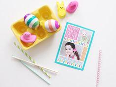 Striped Easter Egg DIY on the blog today! #Easter #DIY