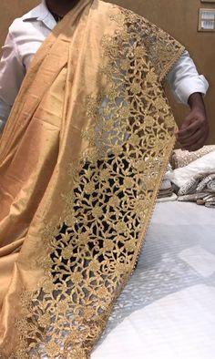 Raw silk love....  with cutwork border
