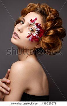 Image result for flower petal eye makeup