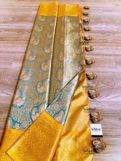Saree Tassels Designs, Saree Kuchu Designs, Wedding Saree Blouse Designs, Pattu Saree Blouse Designs, Kanjivaram Sarees Silk, Indian Silk Sarees, Pure Silk Sarees, Wedding Saree Collection, Bridal Silk Saree