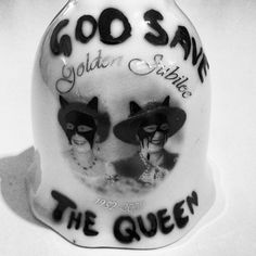 God Save The Queen Porcelain Bell, painted for our forthcoming Tokyo show in May.