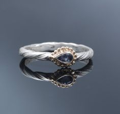 I love the twisty band and the sideways marquise on this.  $79