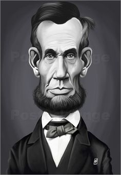 Poster Abraham Lincoln art | decor | wall art | inspiration | caricature | home decor | ideas | gift