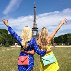 Gomez-Cortazar Casalino soon we will be in Paris! Bff Goals, Best Friend Goals, My Best Friend, Best Friend Pictures, Bff Pictures, Bff Pics, Personalized Wedding Gifts, Monogram Gifts, Monogram Bags