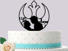 Han and Leia I Love You I Know Star Wars Rebel Alliance Anniversary Wedding Cake Topper Star Wars Cake Toppers, Cupcake Toppers, Wedding Cake Toppers, Wedding Cakes, Han And Leia, Star Wars Wedding, Star Wars Love, Rebel Alliance, Star Wars Rebels