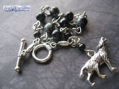 House Stark Dire Wolf Rosary Bead Style Bracelet with by AngelQ, $10.95