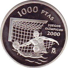 1000 Pesetas 1999 Juegos Olímpicos Sidney 2000. Madrid SC.