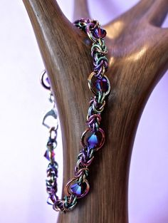Handmade Chainmaille Byzantine Niobium and by CaptiveRingz on Etsy