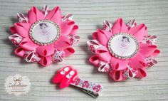 Ballerina Hair Bow  Set of 3  Dance Bow  Pink by ZakolkinoCom