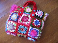 crocheted bag by Maweenahurtz, via Flickr