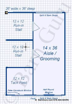 2 Stall Shed Row Horse Barn - Beaverdale with covered tractor shed to make it symmetrical. Horse Shelter, Horse Stables, Horse Farms, My Horse, Horses, Small Horse Barns, Horse Barn Designs, Barn Layout, Horse Barn Plans