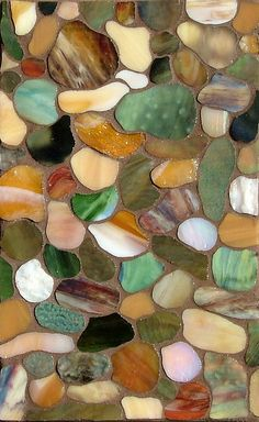 beautiful...Pebbles ~ Mosaic  ...would also make a beautiful quilt (shells, starfish, seaweed...)