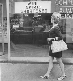 1960s: Mini skirts shortened   Love this picture! Just how short can your skirt go before it's a shirt?!