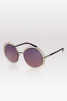 Twiggy- 01 Giallo- Shiny gold finish, purple gradient lenses. #PERVERSEsunglasses