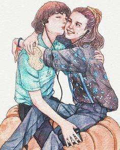 Finn Wolfhard Stranger Things Stranger Things Mike and Eleven by Trishna Tri A. Stranger Things Actors, Stranger Things Quote, Stranger Things Aesthetic, Stranger Things Season 3, Eleven Stranger Things, Stranger Things Netflix, Millie Bobby Brown, Funny Drawings, Drawing For Kids
