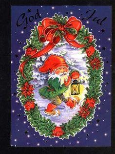 ˇˇ Swedish Christmas, Scandinavian Christmas, Christmas Images, Christmas Cards, Elves And Fairies, Gnomes, Elf, Roots, Parents