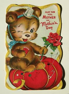 Just for you Mother, on Mother's Day.. #sewing #vintage #Mothers_Day #cards