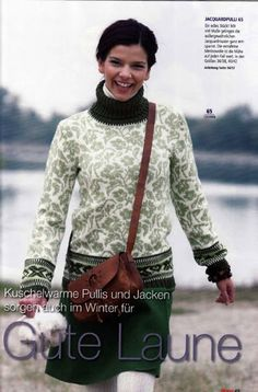 Ravelry: # 65 Jaquardpulli pattern by Burda Design Team Fair Isle Knitting Patterns, Knitting Charts, Knit Patterns, Jumper Patterns, Motif Fair Isle, Fair Isle Pattern, Norwegian Knitting, Cardigan Pattern, Knitted Blankets