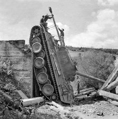 """The bridge couldn't hold up the Panzer V """"Panther"""" World Of Tanks, Armored Fighting Vehicle, Ww2 Tanks, Battle Tank, German Army, Armored Vehicles, War Machine, Military History, World War Two"""