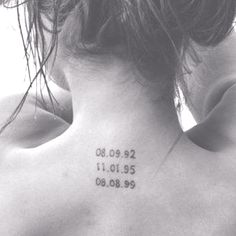 birth date tattoo | Tattoo of children's birth dates only moved to my arm | tattoo ...