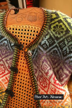 Two color steeked cardigan with Kauni Effektgarn ~ Fiber Art Almanac