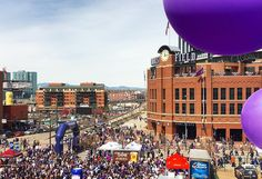 April 8, 2016 - Opening Day at Coors Field, the home of the Colorado Rockies.