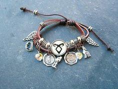 DIY your photo charms, 100% compatible with Pandora bracelets. Make your gifts special. Make your life special! Bracelet Cuir Inspiré cité des ténèbres ( mortal instrument , Neuf ! - Artisanal
