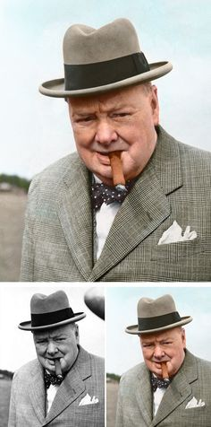 Winston Churchill - Artist Colorizes Old Black & White Photos Making History Come To Life