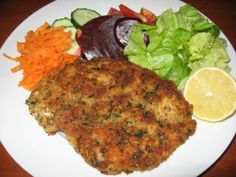 Chicken Schnitzels in Lemon and Parsley