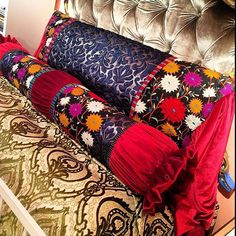 Gorgeous Bolsters and Pillows at @RoostOklahoma