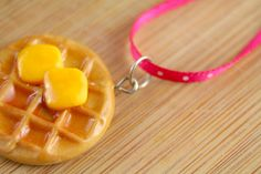 DIY Leslie Knope Waffle Necklace step-by-step instructions.  Just like Leslie wears on Parks and Recreation.