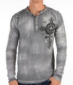 """Affliction Stand Alone Henley"" www.buckle.com"